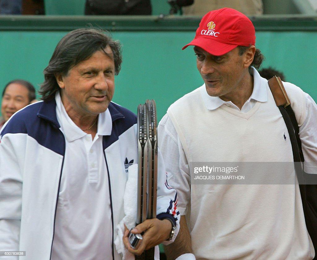 Argentinian Jose Luis Clerc R and Romanian Ilie Nastase L