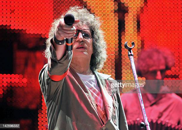 Argentinian musician Charly Garcia performs on April 7 2012 in Buenos Aires AFP PHOTO / NA HERNAN NERSESIAN