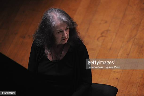 Argentinian pianist Martha Argerich performs as soloist with The Manchester Cemerata conduced by hungarian musician Gabor Takacs Nagy for Bologna...