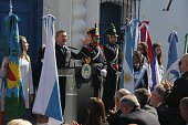 Argentinian President Mauricio Macri delivers a speech during the commemoration of the bicentenary of the Argentinian Independence in Tucuman...
