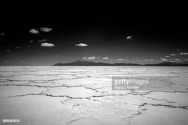 Argentinian Salt Flats desert and mountains
