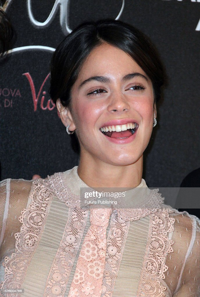 Argentinian singer and actress Martina Stoessel poses during a photocall of the movie Tini - La Nuova Vita Di Violetta (Tini - The New Life of Violetta), on April 29,2016 in Rome, Italy. Marco Ravagli / Barcroft Images hello@barcroftmedia.com - +1 212 796 2458 +91 11 4053 2429