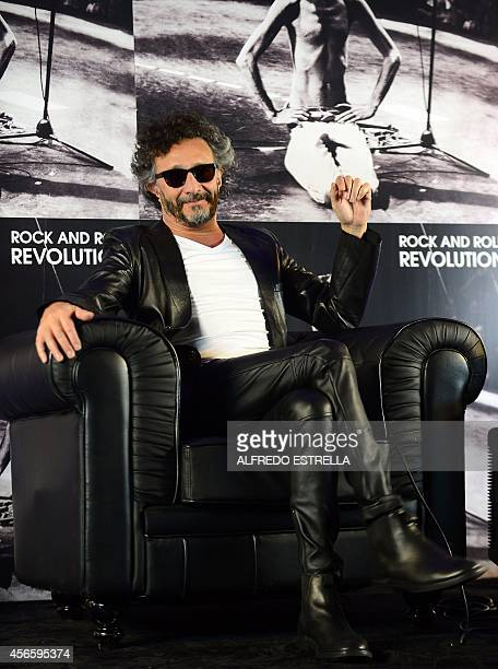 Argentinian singer Fito Paez poses for a picture before a press conference to present his new work 'Rock and Roll Revolution' a tribute to...