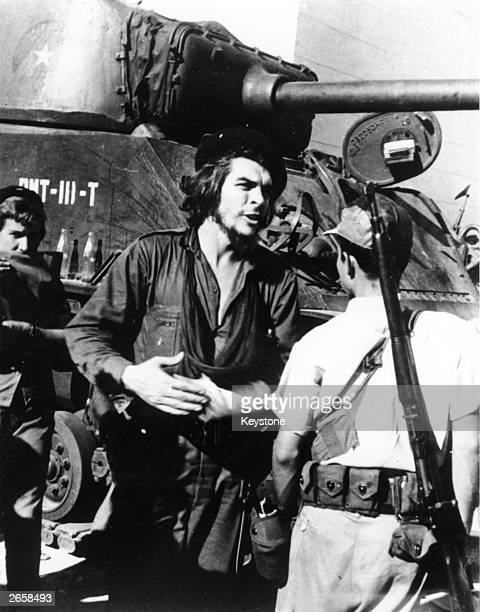 Argentinianborn Cuban revolutionary Ernesto Che Guevara during the battle of Santa Clara