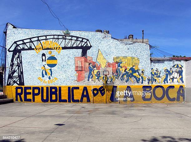 Bolzplatz im Stadtviertel La Boca