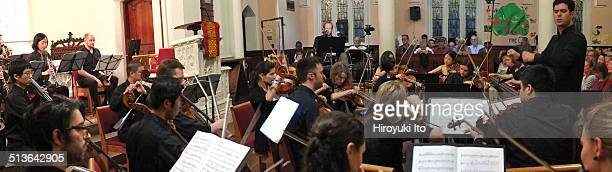 Argento Chamber Ensemble and Jack Quartet performing at Advent Lutheran Church on Monday night September 15 2014The concert is titled 'Gustav Mahler...