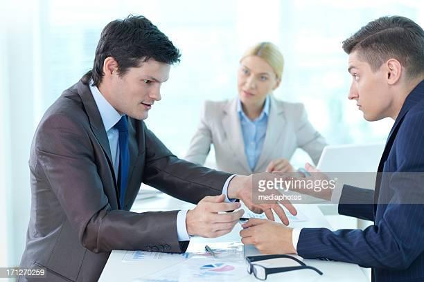Arguing colleagues