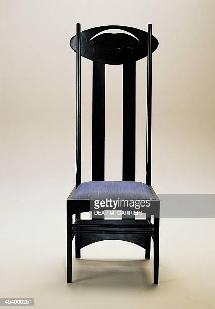 Argyle chair 19031905 by Charles Rennie Mackintosh black ash produced by Cassina United Kingdom 20th century