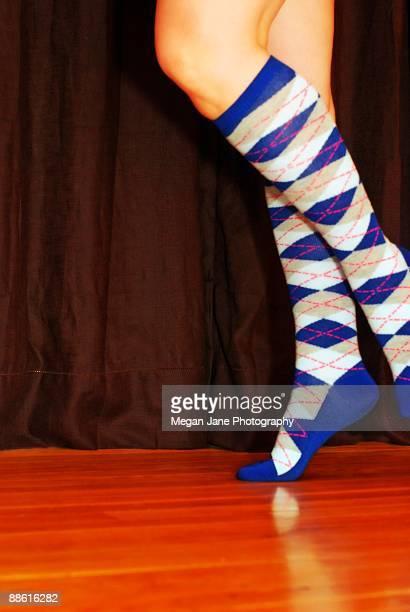 Argyle Knee Socks