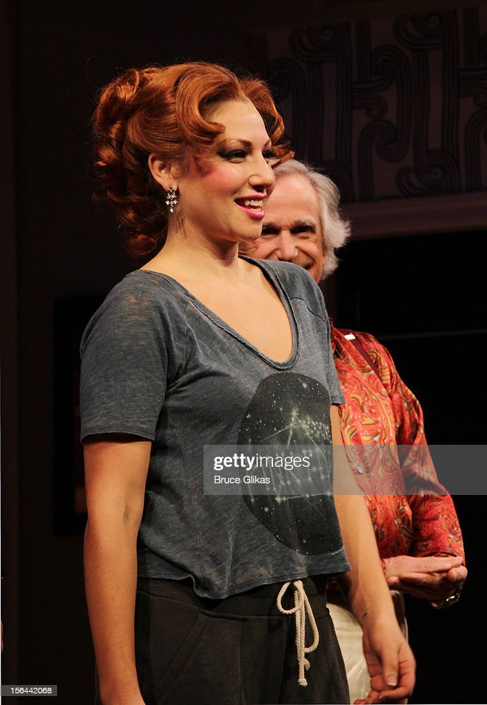 Ari Graynor takes her opening night curtain call for 'The Performers' on Broadway at the Longacre Theatre on November 14, 2012 in New York City.