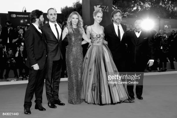 Ari Handel Darren Aronofsky Michelle Pfeiffer Jennifer Lawrence Javier Bardem and Scott Franklin attend the Gala Screening and World Premiere of...