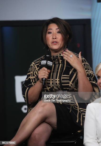 Ari Horie speaks at Gretchen Carlson's Be Fierce Tech Panel at Build Studio on October 17 2017 in New York City