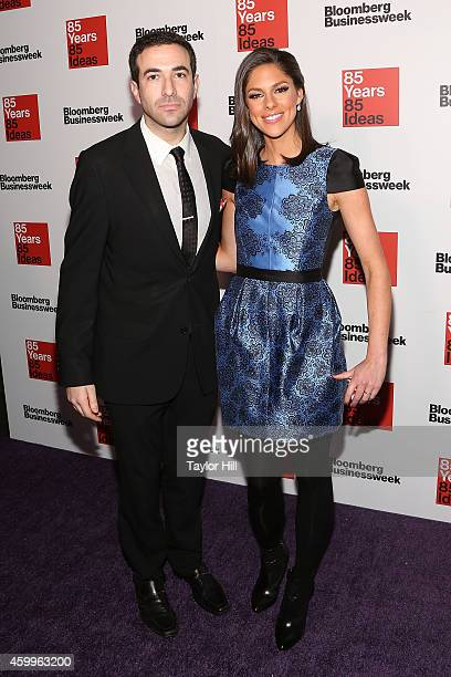 Ari Melber and Abby Huntsman attend the Bloomberg Businessweek 85th Anniversary Celebration at the American Museum of Natural History on December 4...