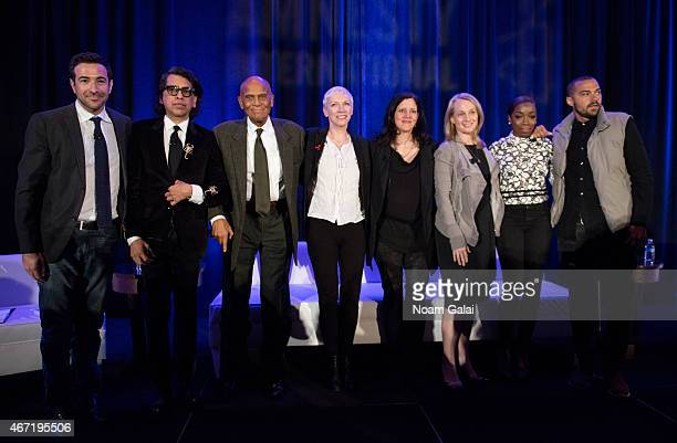 Ari Melber Nusrat Durrani Harry Belafonte Annie Lennox Laura Poitras Piper Kerman Estelle and Jesse Williams attend Amnesty International USA's 50th...