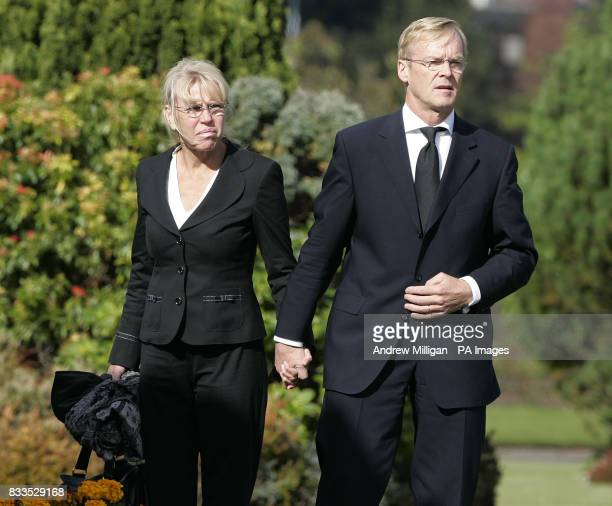 Ari Vatanen arrives at the funeral of Colin McRae and his son Johnny at East Chapel Daldowie Crematorium