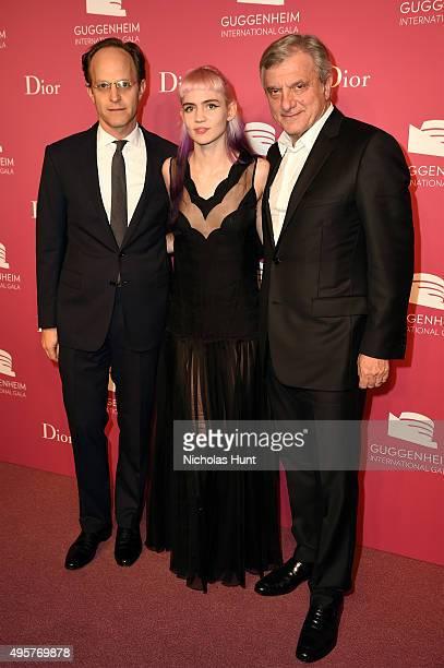 Ari Wiseman Deputy Director of Solomon R Guggenheim Foundation Grimes and Sidney Toledano Dior attend the 2015 Guggenheim International Gala PreParty...