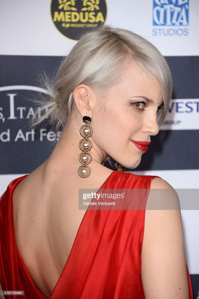 Aria Crescendo attends the 9th Annual L.A. Italia Film, Fashion And Art's Festival Closing Night Awards Ceremony at TCL Chinese Theatre on February 28, 2014 in Hollywood, California.