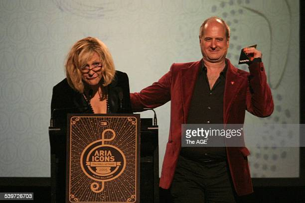 Aria Icons Hall of Fame Pictured is Renee Geyer and Michael Gudinski 14 July 2005 THE AGE Picture by MELANIE FAITHDOVE