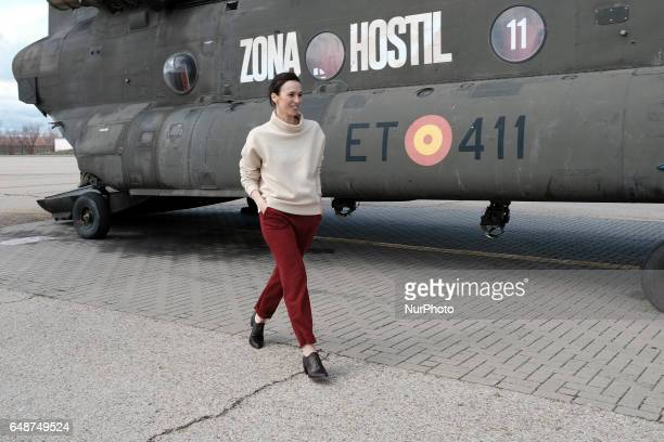 Ariadna Gil attends 'Zona Hostil' photocall at the FAMET Military Base on March 6 2017 in Colmenar Viejo Spain