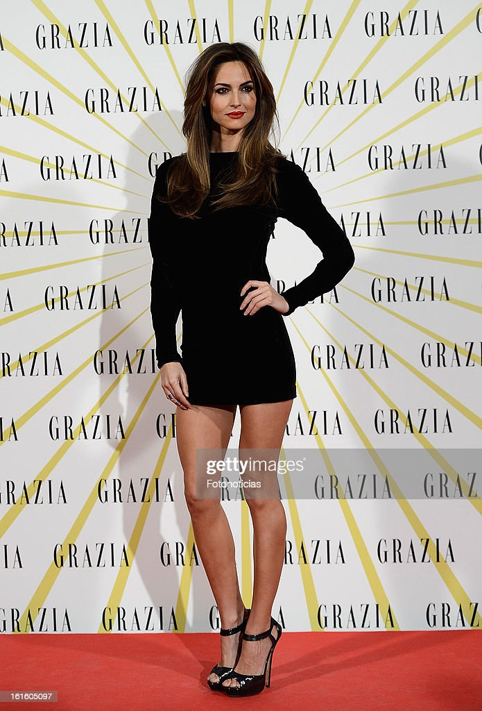 Ariadne Artiles attends Grazia Magazine launch party at the Circo Prize Theater on February 12, 2013 in Madrid, Spain.