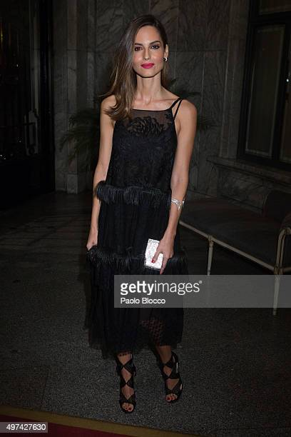 Ariadne Artiles is seen arriving to 'Vanity Fair Personality of the Year' gala at Ritz Hotel on November 16 2015 in Madrid Spain