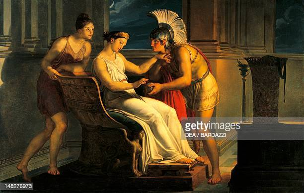 Ariadne giving some thread to Theseus to leave the labyrinth by Pelagius Palagi Bologna Galleria D'Arte Moderna