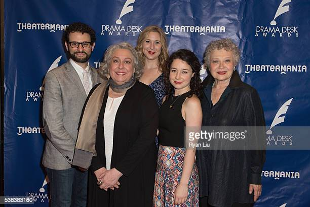 Arial Moayed Sarah Steele Kathryn Beck and Jayne Houdyshell attend the 2016 Drama Desk Awards Arrivals at Anita's Way on June 5 2016 in New York City