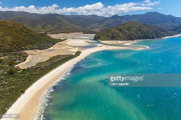 Arial view of Abel Tasman National Park