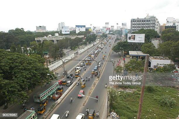 Arial View of Anna Flyover in Chennai Tamil Nadu India
