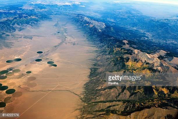 Arial View of Colorado Mountains,San Luis Valley, Colorado, USA
