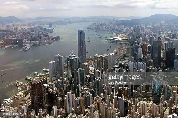 Arial view of Hong Kong