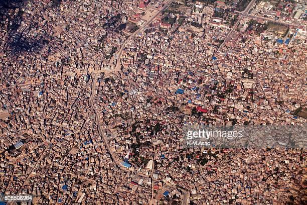 KATHMANDU BAKTOPUR KATHMANDU NEPAL Arial view of Kathmandu city after a massive earthquake magnitude78 hit the country on 25 April 2015 in Kathmandu...