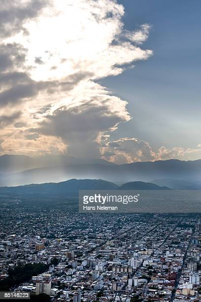 Arial view of Salta City, Argentina