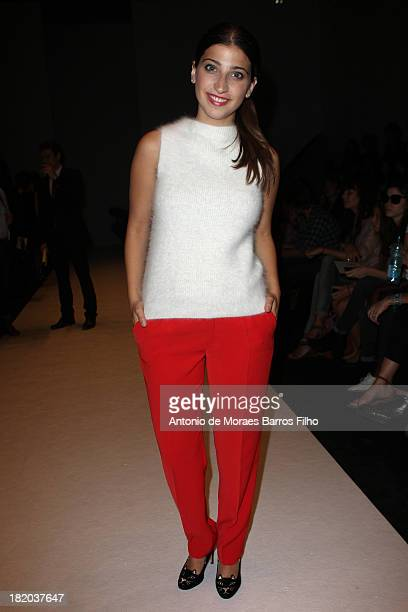 Ariana and the Rose attends the Vanessa Bruno show as part of the Paris Fashion Week Womenswear Spring/Summer 2014 at Grand Palais on September 27...