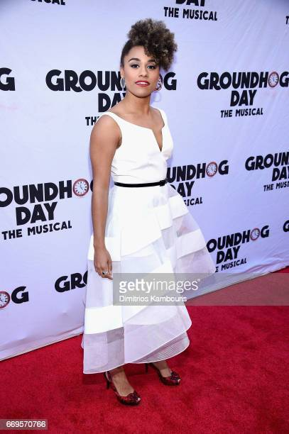 Ariana DeBose attends the 'Groundhog Day' Broadway Opening Night at August Wilson Theatre on April 17 2017 in New York City