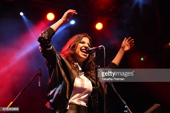 Ariana DiLorenzo of Ariana And The Rose performs live on stage at the Bing Wrap Party during Advertising Week Europe 2016 at KOKO on April 21 2016 in...