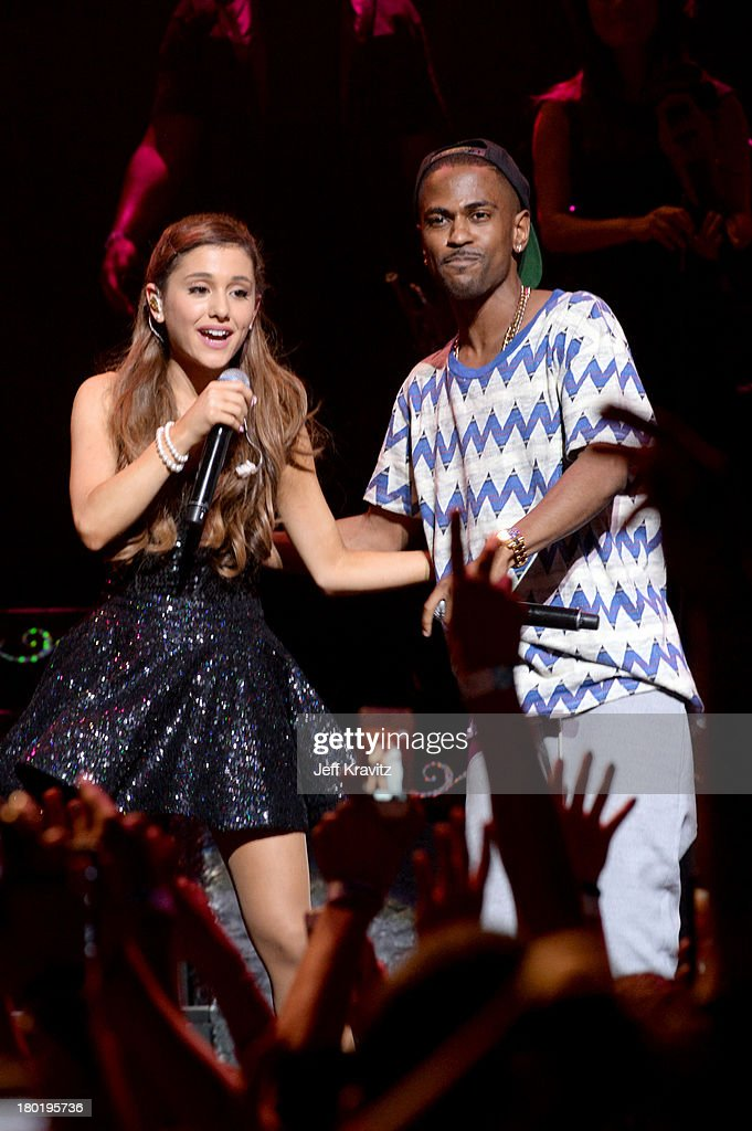 <a gi-track='captionPersonalityLinkClicked' href=/galleries/search?phrase=Ariana+Grande&family=editorial&specificpeople=5586219 ng-click='$event.stopPropagation()'>Ariana Grande</a> and <a gi-track='captionPersonalityLinkClicked' href=/galleries/search?phrase=Big+Sean&family=editorial&specificpeople=4449582 ng-click='$event.stopPropagation()'>Big Sean</a> performs at Club Nokia on September 9, 2013 in Los Angeles, California.