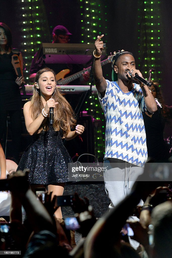 Ariana Grande and Big Sean performs at Club Nokia on September 9, 2013 in Los Angeles, California.
