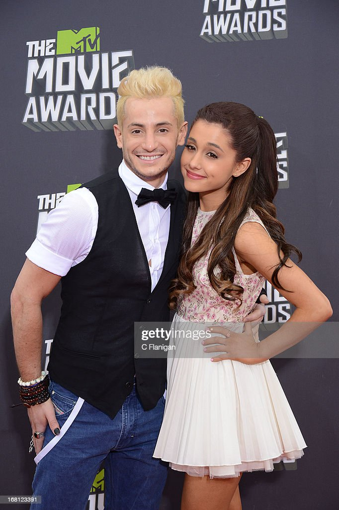 Ariana Grande arrives at the 2013 MTV Movie Awards at Sony Pictures Studios on April 14, 2013 in Culver City, California.