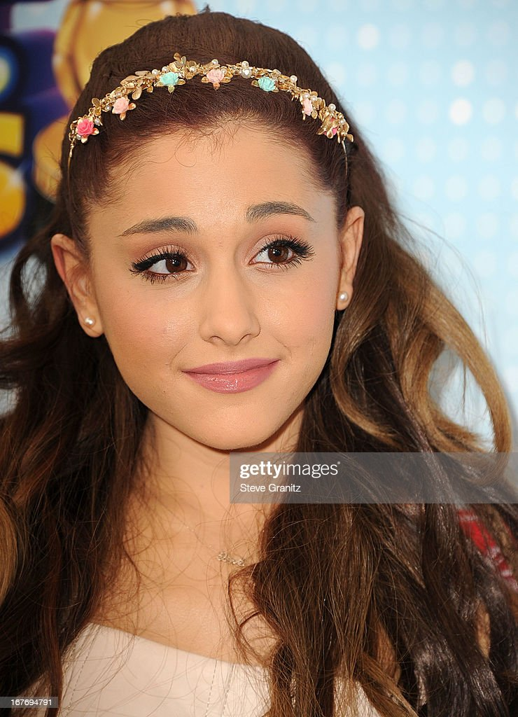 Ariana Grande arrives at the 2013 Radio Disney Music Awards at Nokia Theatre L.A. Live on April 27, 2013 in Los Angeles, California.