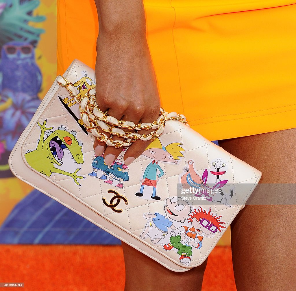 Ariana Grande arrives at the Nickelodeon's 27th Annual Kids' Choice Awards at USC Galen Center on March 29 2014 in Los Angeles California