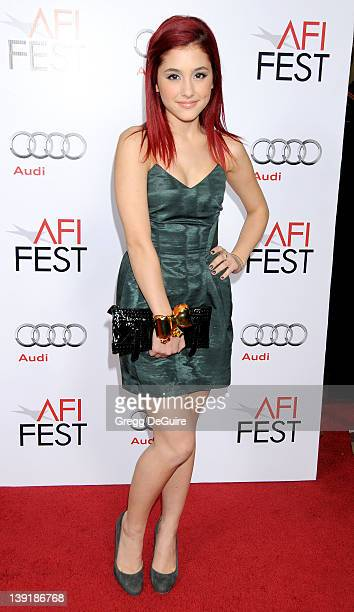 Ariana Grande arrives at the Opening Night Gala Screening of 'Fantastic Mr Fox' at AFI FEST 2009 at the Grauman's Chinese Theater on October 30 2009...