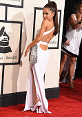 Ariana Grande arrives at the The 57th Annual GRAMMY Awards on February 8 2015 in Los Angeles California