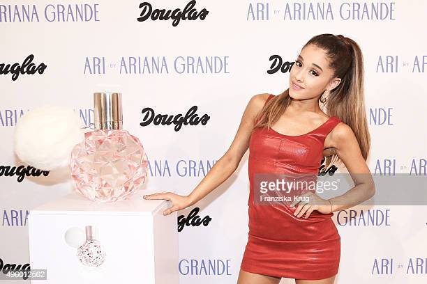Ariana Grande attends the Exclusive Meet Greet With Ariana Grande At Douglas on November 06 2015 in Hamburg Germany