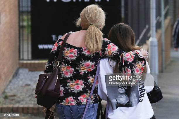 Ariana Grande concert attendees Karen Moore and her daughter Molly Steed aged 14 from Derby leave the Park Inn where they were given refuge after...