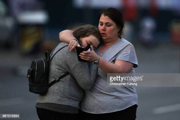 Ariana Grande concert attendees Vikki Baker and her daughter Charlotte aged 13 leave the Park Inn where they were given refuge after last night's...