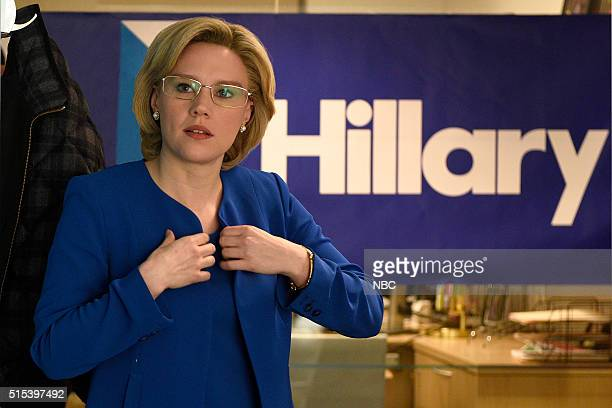 LIVE 'Ariana Grande' Episode 1698 Pictured Kate McKinnon as Hillary Clinton during the 'Hillary Campaign Ad' sketch on March 12 2016