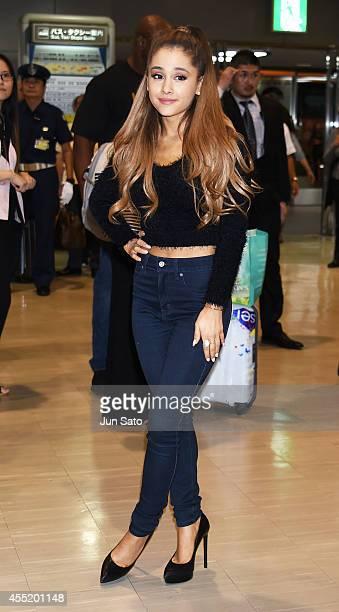 Ariana Grande is seen upon arrival at Narita International Airport on September 11 2014 in Narita Japan