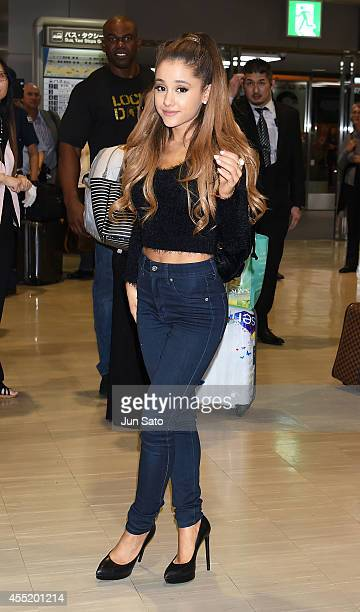 Ariana Grande is seen upon arrival at Narita International Airport on September 11 2014 in Narita Japan