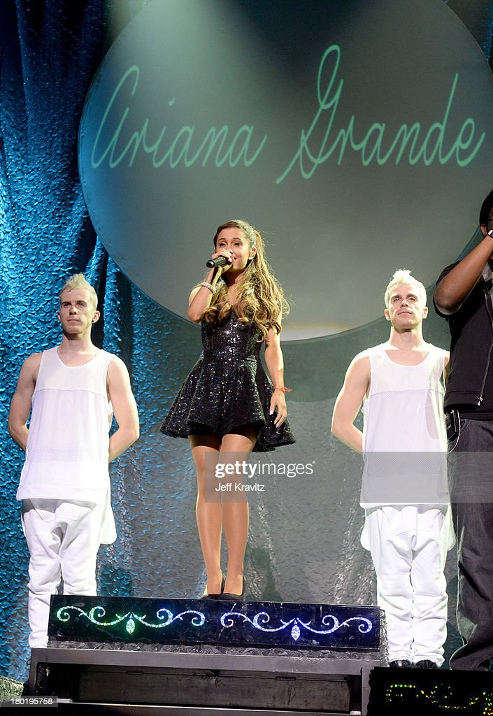 <a gi-track='captionPersonalityLinkClicked' href=/galleries/search?phrase=Ariana+Grande&family=editorial&specificpeople=5586219 ng-click='$event.stopPropagation()'>Ariana Grande</a> performs at Club Nokia on September 9, 2013 in Los Angeles, California.